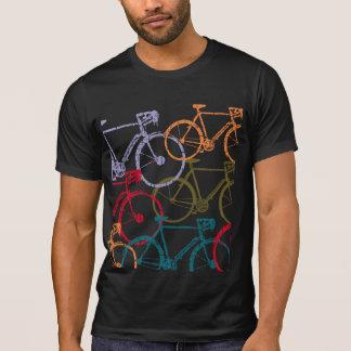 T-shirt recyclage de vélo/bicyclette coloré