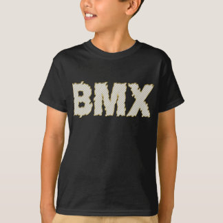 T-shirt Recyclage faisant du vélo de bicyclette de BMX