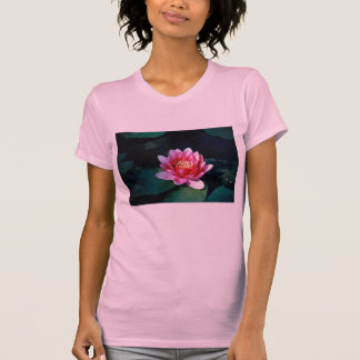 T-shirt Red Water  Lily