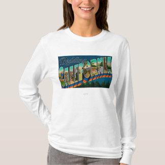 T-shirt Redding, la Californie - grandes scènes de lettre