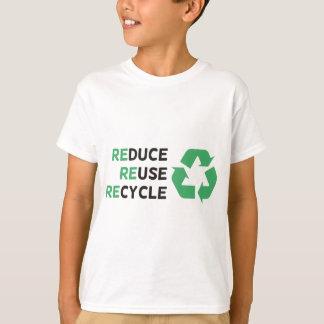 T-shirt Réduisez, réutilisez, réutilisez les produits et
