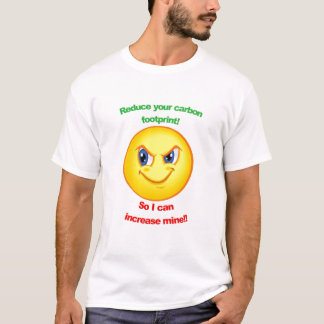 T-shirt Réduisez votre empreinte de pas de carbone !