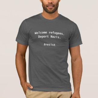 T-shirt Réfugiés bienvenus. Expulsez les Nazis