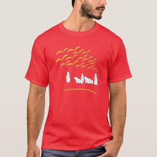 T-shirt Regard de marmottes à la chemise d'oiseaux de vol