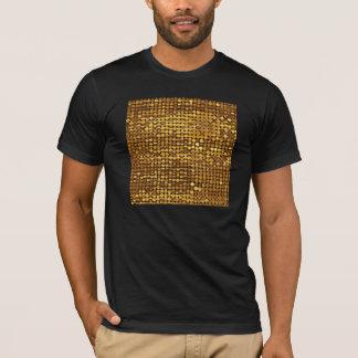T-shirt Regard de scintillement de paillette d'or