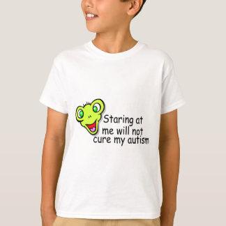 T-shirt Regarder fixement moi ne me guérira pas autisme