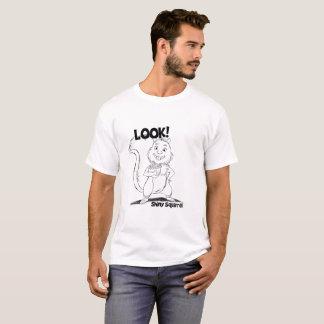 T-shirt Regardez ! Hommes brillants d'écureuil