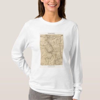 T-shirt Région de passage de TruckeeDonner de topographie,