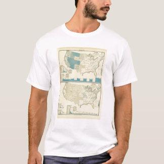 T-shirt Régions argentées et de cuivre d'exploitation