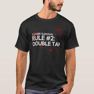 T-shirt Règle 2 de survie de zombi : Double robinet