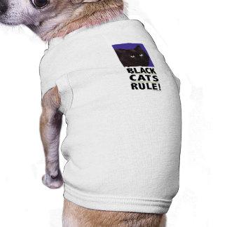 T-shirt RÈGLE de chats noirs ! Pièce en t pour des chats