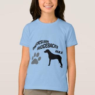 T-shirt Règle de Rhodesian Ridgebacks