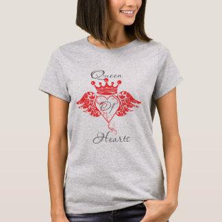 T-shirt Reine de pièce en t de coeurs
