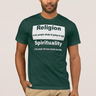 T-shirt Religion contre la spiritualité
