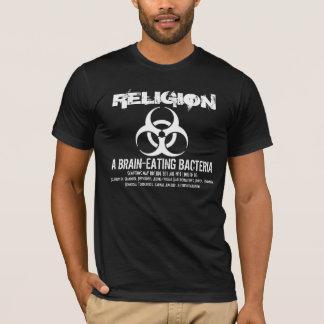 T-shirt Religion : Un cerveau mangeant des bactéries