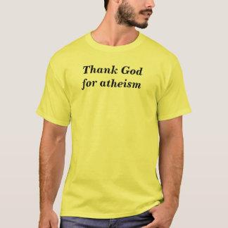 T-shirt Remerciez Dieu de l'athéisme