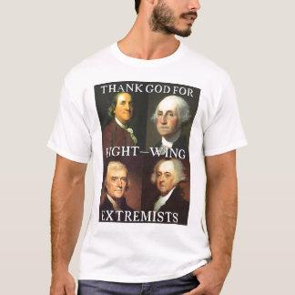 T-shirt Remerciez Dieu des extrémistes de droite