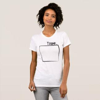 T-shirt Remerciez en dehors de la typographie de coquille