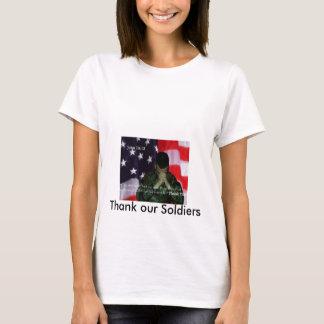 T-shirt Remerciez nos soldats