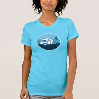 T-shirt Remorque de baisse de larme d'étiquette rétro