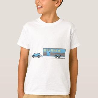 T-shirt Remorque de cheval de voiture d'Eco