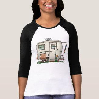 T-shirt Remorque en verre vintage mignonne de voyage de