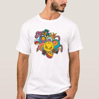 T-shirt Remous colorés et étoiles de M. Happy |