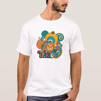 T-shirt Remous psychédéliques, étoiles, et fleurs de M.