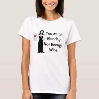 T-shirt Renarde de vin trop de lundi, pas assez de vin