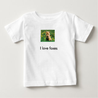 """T-shirt renardeau """"I love foxes"""""""