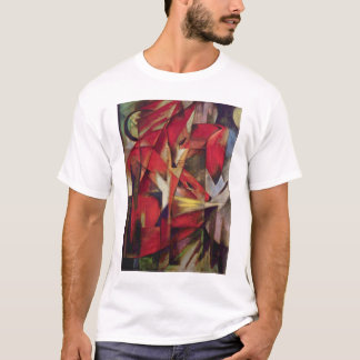 T-shirt Renards par Franz Marc, art abstrait de cubisme de