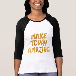 T-shirt Rendez aujourd'hui stupéfier, noir et or inspirés