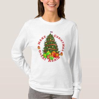 T-shirt Rendez Noël grand encore pour trump le jaune rouge
