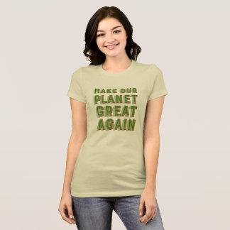 T-shirt Rendez notre planète grande encore. Crème molle.