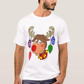 T-shirt Renne de Noël avec des ornements