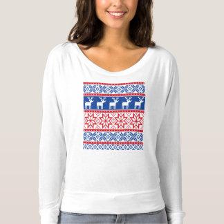 T-shirt Renne et flocons de neige nordiques