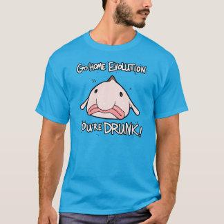 T-shirt Rentrent à la maison, l'évolution.  Vous êtes