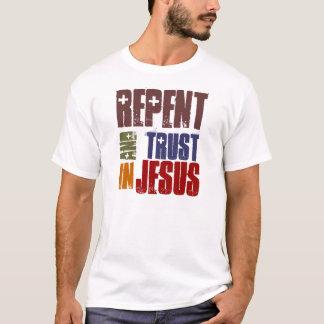 T-shirt Repentissez-vous et faites confiance en Jésus