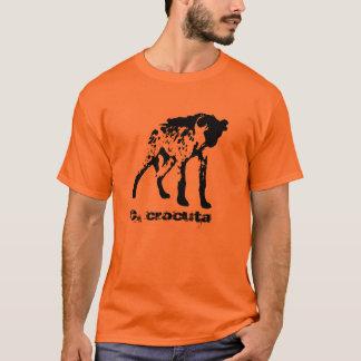 T-shirt repéré d'hyène (crocuta de Crocuta)