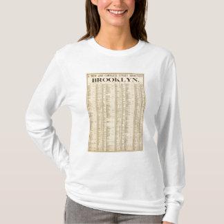 T-shirt Répertoire des rues de ?ère page de Brooklyn