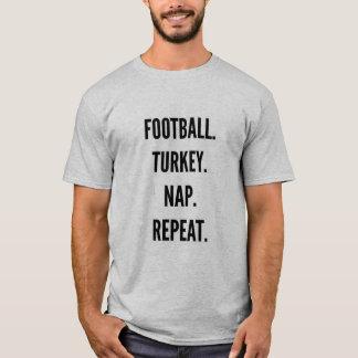 T-shirt Répétition de petit somme de dinde du football de