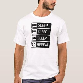 T-shirt Répétition de sommeil de sommeil de sommeil