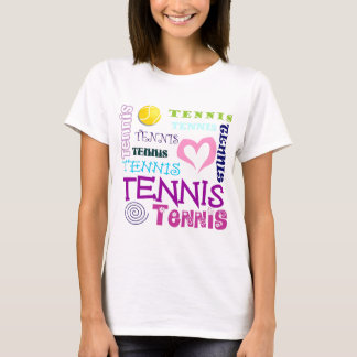 T-shirt Répétition de tennis