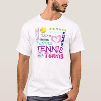 T-shirt Répétition de tennis