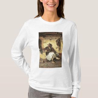 T-shirt Repos albanais de sentinelle (Arnaueti) (huile sur