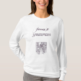 T-shirt Reproduction de la signature de James VI et