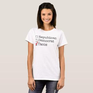 T-shirt Républicain. Démocrate. Tacos.