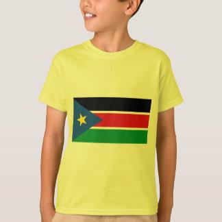 T-shirt République de drapeau du sud du Soudan sur des