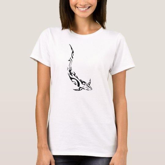 T-shirt Requin en noir et blanc -