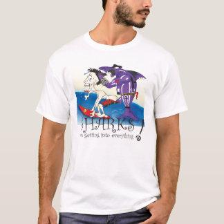 T-shirt requins drôles
